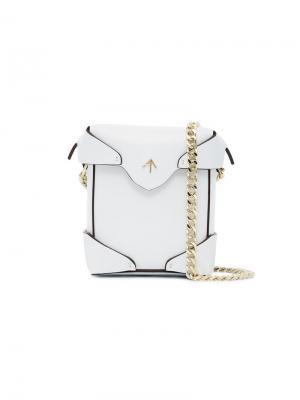 Микро сумка через плечо Pristine Manu Atelier. Цвет: белый