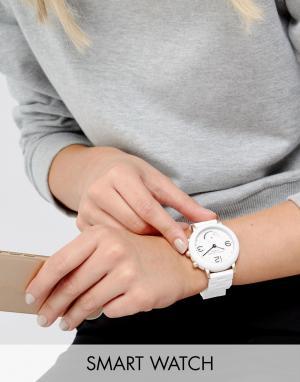 Marc Jacobs Белые гибридные смарт-часы с браслетом Connected MJT1004. Цвет: белый