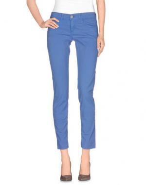 Повседневные брюки CLARK JEANS. Цвет: лазурный