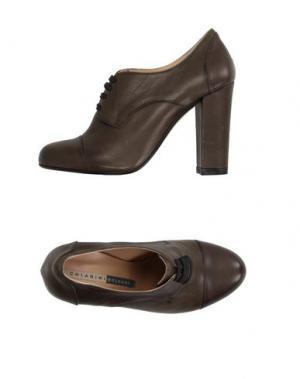 Обувь на шнурках CHIARINI BOLOGNA. Цвет: хаки