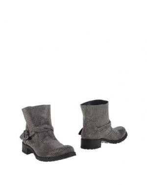 Полусапоги и высокие ботинки FABRIZIO CHINI. Цвет: свинцово-серый