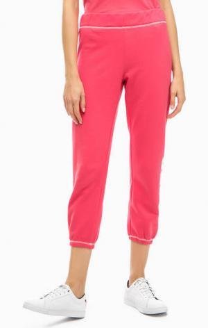 Хлопковые брюки с принтом Juicy by Couture. Цвет: коралловый