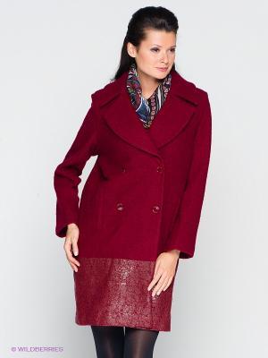 Пальто Isabel de Pedro. Цвет: бордовый