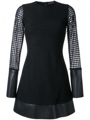 Короткое многослойное платье David Koma. Цвет: чёрный