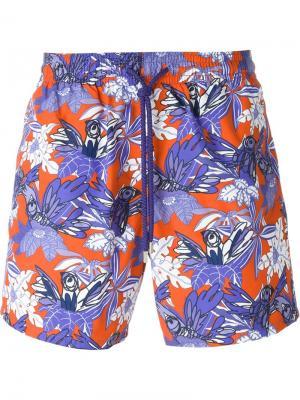 Плавательные шорты с принтом птиц Vilebrequin. Цвет: none