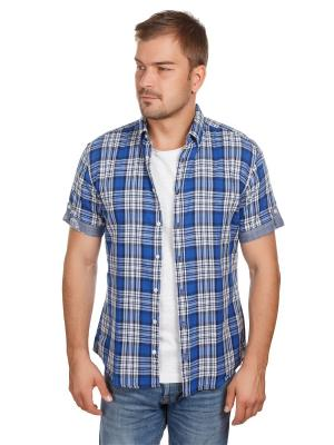 Рубашка McNeal. Цвет: синий, белый