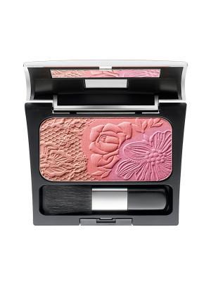 Палетка из трех румян Rosy Shine Blusher №07, оттенки  розовый; персиковый; абрикосовый Make up factory. Цвет: бронзовый, персиковый, розовый