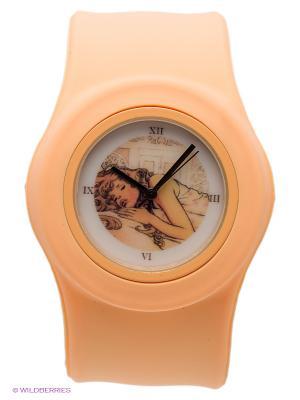 Часы Kawaii Factory. Цвет: персиковый
