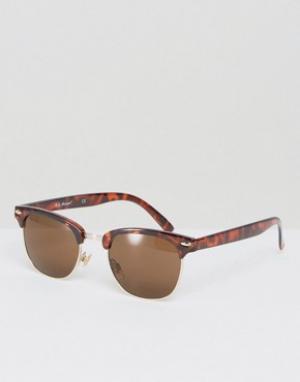 AJ Morgan Солнцезащитные очки в стиле ретро Soho. Цвет: коричневый