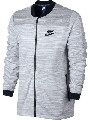 Бомбер M NSW AV15 JKT KNIT Nike. Цвет: белый