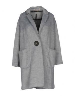 Пальто MANILA GRACE. Цвет: серый
