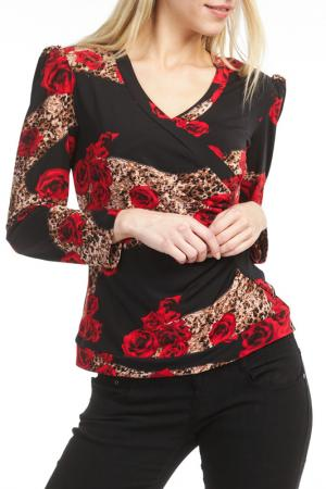 Блуза Georgede. Цвет: red, brown, black