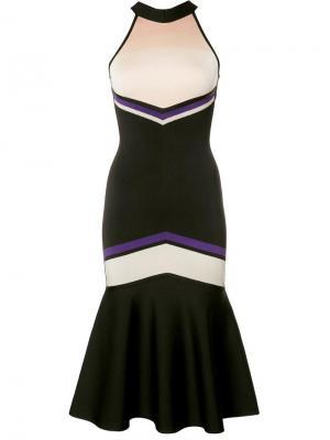 Облегающее платье с расклешенным подолом David Koma. Цвет: белый