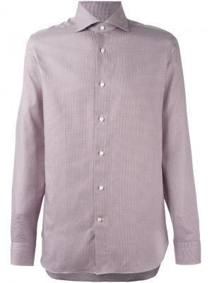 Рубашка с мелким принтом Ermenegildo Zegna. Цвет: красный