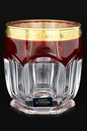 Стакан для виски 250 мл, 6 шт Crystalite Bohemia. Цвет: прозрачный, золотой