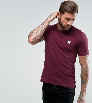 Good For Nothing Бордовая обтягивающая футболка с логотипом на груди. Цвет: красный