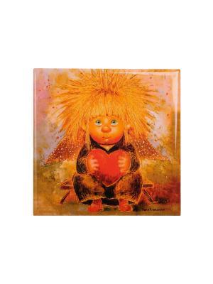Магнит Ангел любящего сердца Artangels. Цвет: оранжевый, красный, черный