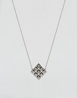 House of Harlow Ожерелье с геометрической подвеской. Цвет: серебряный