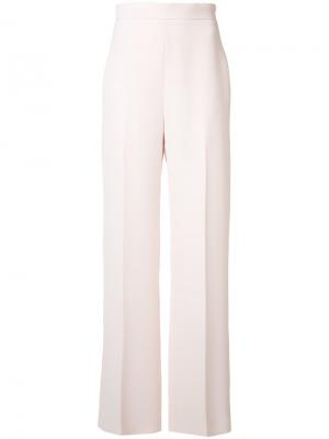 Расклешенные строгие брюки Brandon Maxwell. Цвет: розовый и фиолетовый
