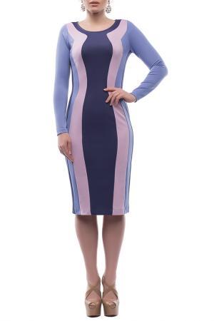 Повседневное облегающее платье Петербургский Швейный Дом. Цвет: фиолетовый, сиреневый, лиловый