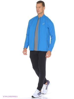 Куртка Woven Jacket ASICS. Цвет: голубой
