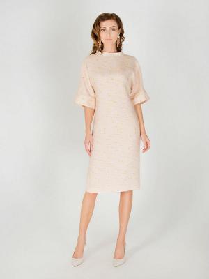 Платье Olga Skazkina. Цвет: бежевый, розовый