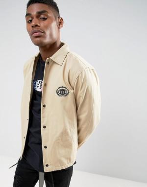 Wasted Paris Спортивная куртка с вышитым логотипом. Цвет: светло-серый