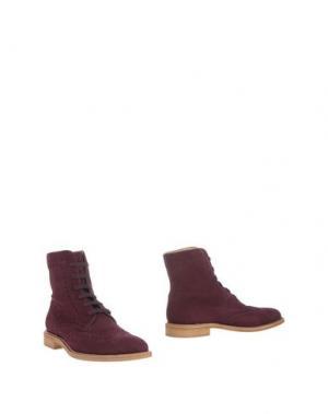 Полусапоги и высокие ботинки TOD'S. Цвет: баклажанный