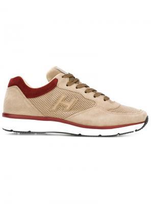 Кроссовки на шнуровке Hogan. Цвет: серый