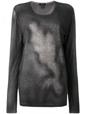 Джемпер с выбеленным эффектом и мелким декором Avant Toi. Цвет: серый