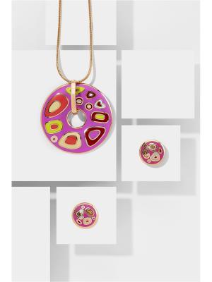 Набор украшений: цепочка с кулоном и серьги Nothing but Love. Цвет: золотистый, желтый, розовый
