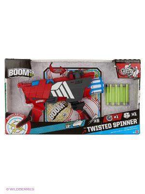 Бластер Twisted Spinner BOOMco. Цвет: красный, серый