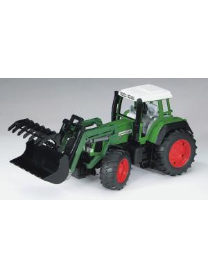 Трактор Fendt Favorit 926 Vario с погрузчиком Bruder. Цвет: зеленый, серый