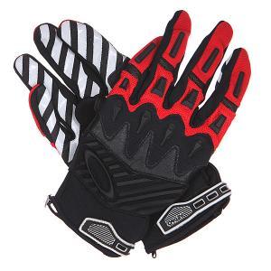 Перчатки  Overload Glove Red Line Oakley. Цвет: черный,серый,красный