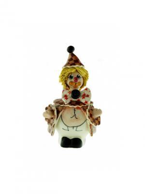 Статуэтка Клоун Zampiva. Цвет: белый, желтый, коричневый