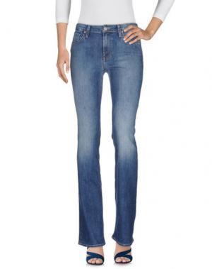 Джинсовые брюки VELVET by GRAHAM & SPENCER. Цвет: синий