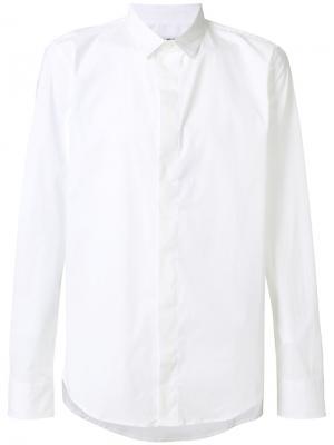 Рубашка с длинными рукавами Dirk Bikkembergs. Цвет: белый