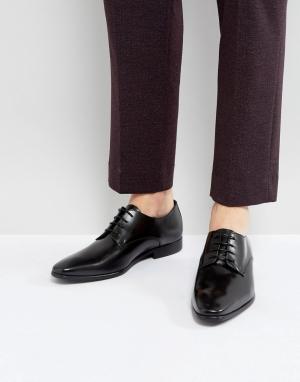 Zign Кожаные туфли дерби со шнуровкой. Цвет: черный