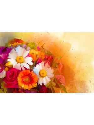 Картина Летний букет Ecoramka. Цвет: темно-красный, бронзовый, светло-оранжевый