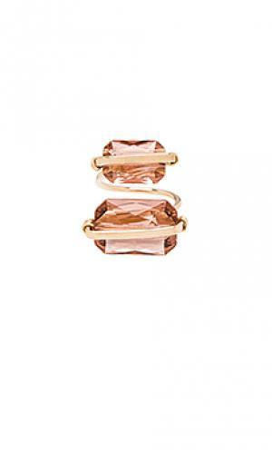 Кольцо peyton Mimi & Lu. Цвет: металлический золотой