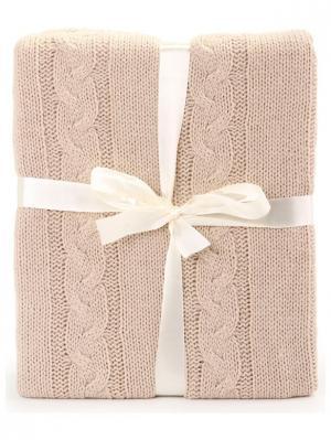 Плед 130*150 СМ Knit KnitT-Beige Cite Marilou. Цвет: бежевый