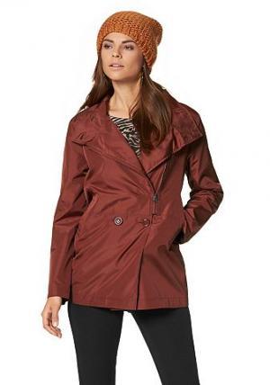 Нейлоновая куртка Chillytime. Цвет: цвет ржавчины + коричневый