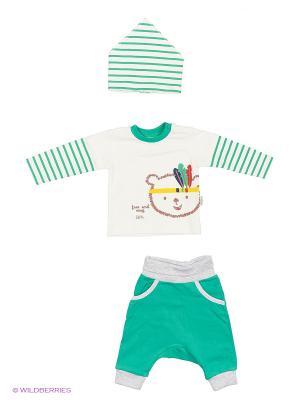 Костюм для малышей WO&GO. Цвет: белый, зеленый