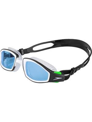 Очки для плавания Speedo. Цвет: голубой, черный