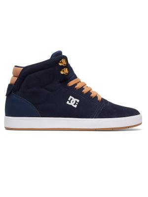 Кеды CRISI HIGH DC Shoes. Цвет: темно-синий, светло-бежевый