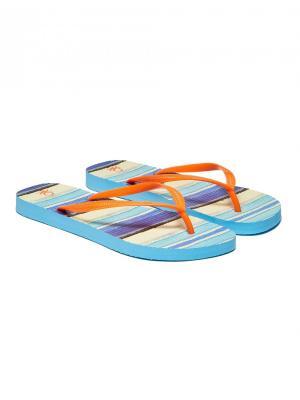 Шлепанцы United Colors of Benetton. Цвет: оранжевый, голубой, желтый