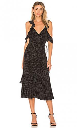 Платье в горошек rosalind SAYLOR. Цвет: черный