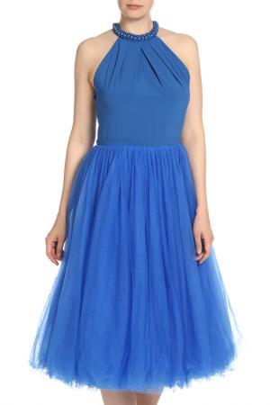 Летнее платье с аппликацией Isabel Garcia. Цвет: victoria blue