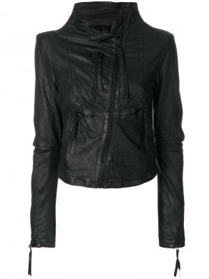 Куртка со смещенной застежкой Barbara I Gongini. Цвет: чёрный