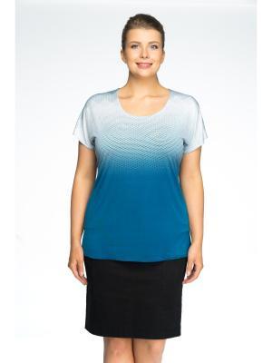 Блузка Pretty Woman. Цвет: голубой, белый